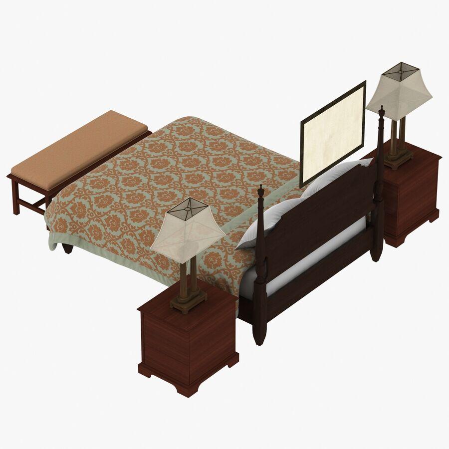 Мебель для спальни royalty-free 3d model - Preview no. 6
