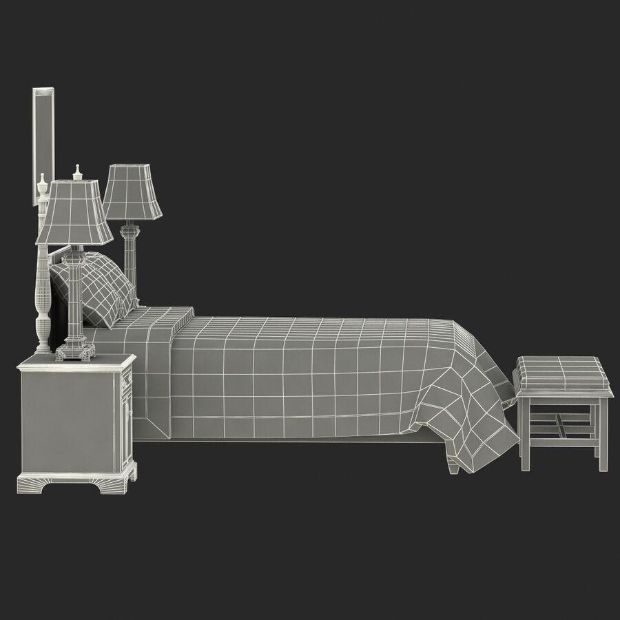 Мебель для спальни royalty-free 3d model - Preview no. 19