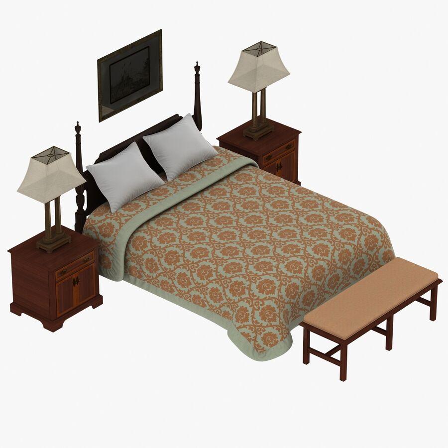 Мебель для спальни royalty-free 3d model - Preview no. 3