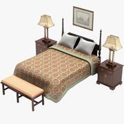Set di mobili per camera da letto 3d model