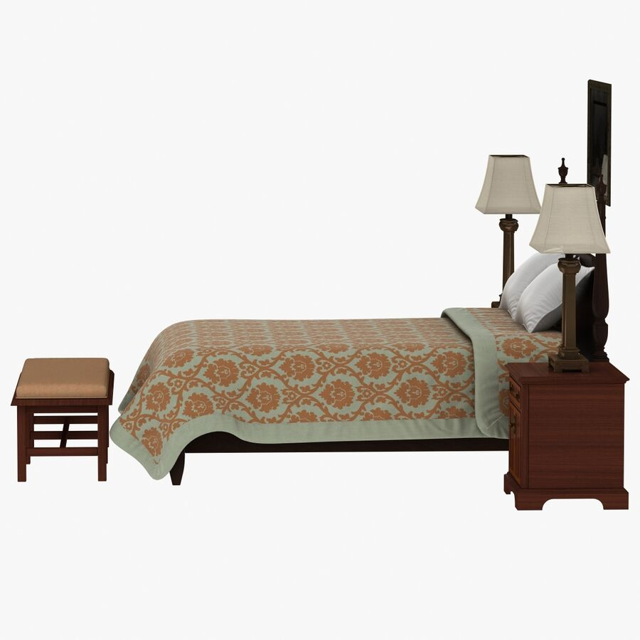 Мебель для спальни royalty-free 3d model - Preview no. 8