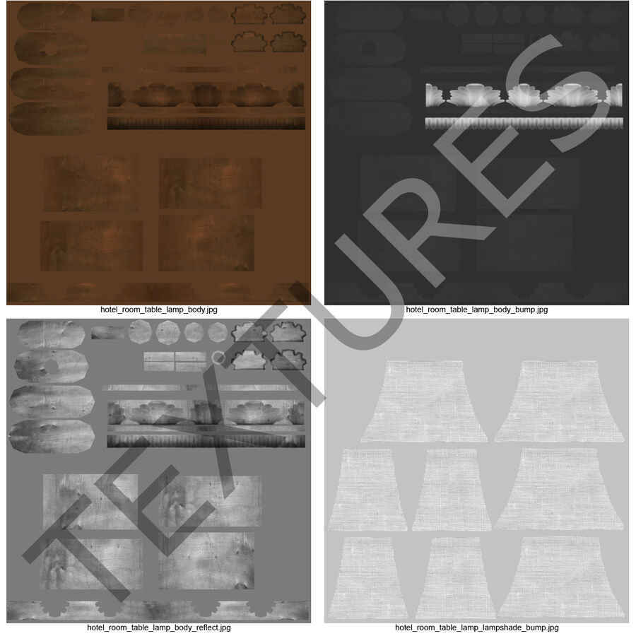 Мебель для спальни royalty-free 3d model - Preview no. 27