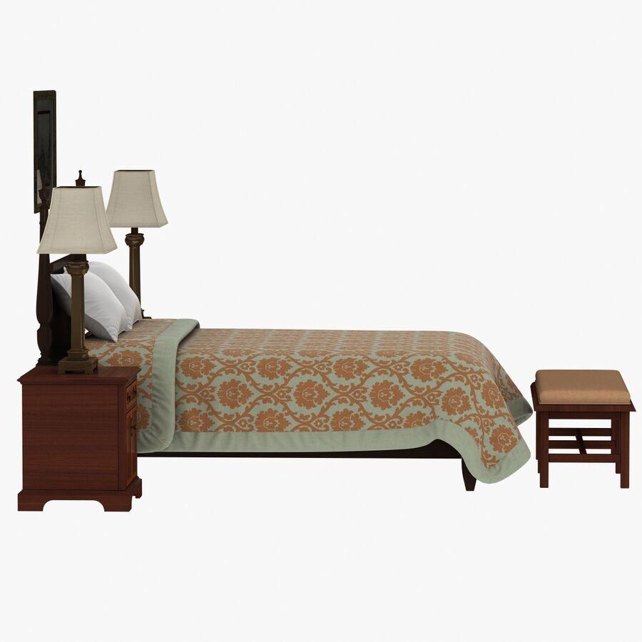 Мебель для спальни royalty-free 3d model - Preview no. 9