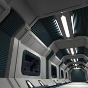 Couloir SciFi D 3d model