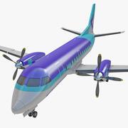 Passagerarflygplan Saab 340 3d model