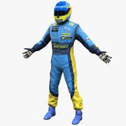 Piloto de corrida Renault 3d model