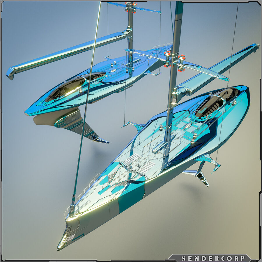 요트 royalty-free 3d model - Preview no. 2