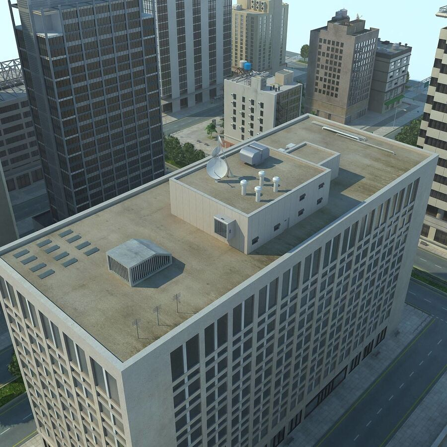 Stad gedetailleerd stadsgezicht 2013 royalty-free 3d model - Preview no. 22