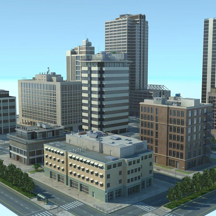 Stad gedetailleerd stadsgezicht 2013 royalty-free 3d model - Preview no. 1