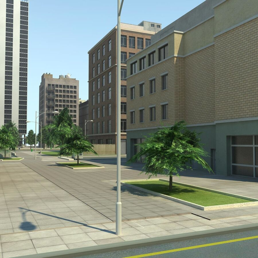 Stad gedetailleerd stadsgezicht 2013 royalty-free 3d model - Preview no. 18