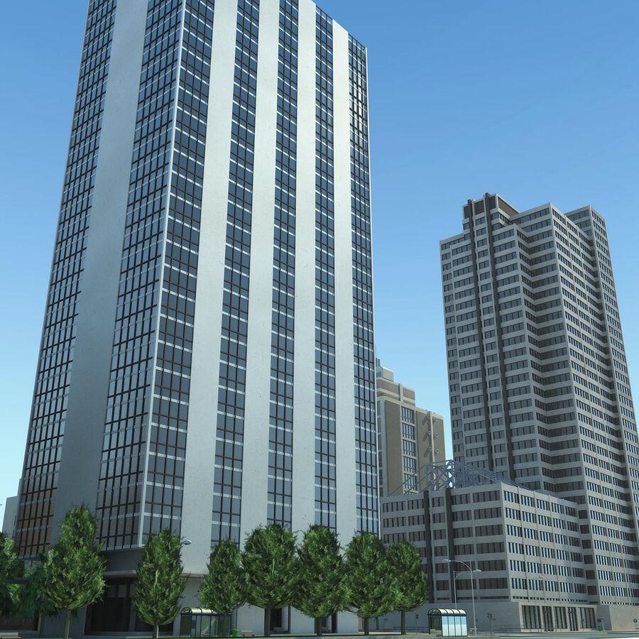 Stad gedetailleerd stadsgezicht 2013 royalty-free 3d model - Preview no. 23