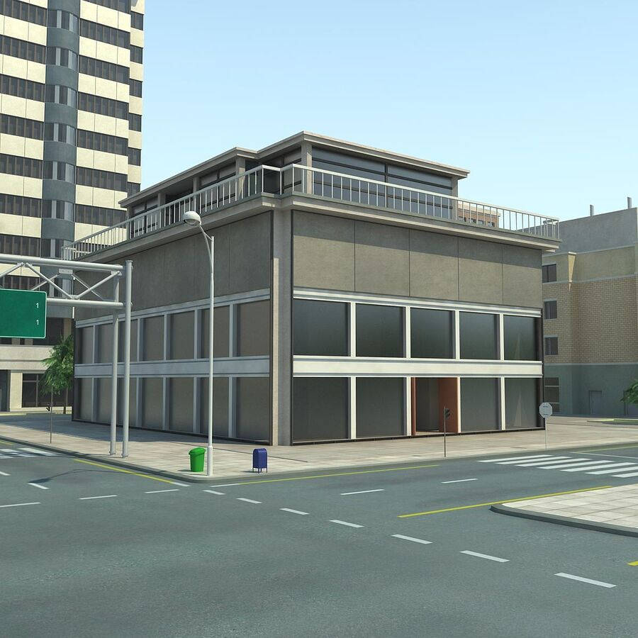 Stad gedetailleerd stadsgezicht 2013 royalty-free 3d model - Preview no. 15