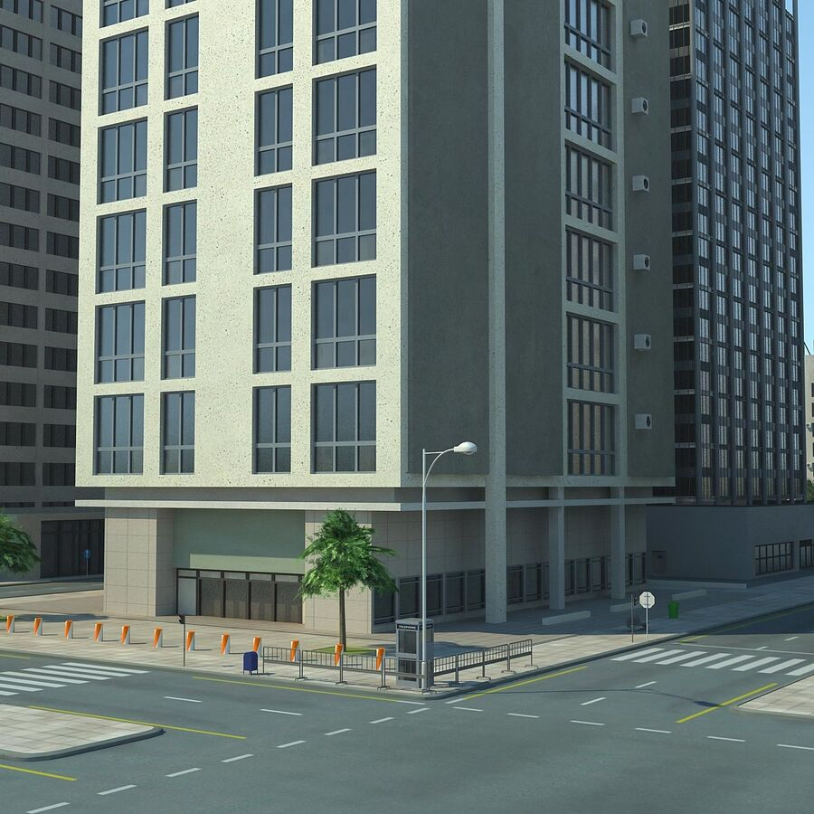 Stad gedetailleerd stadsgezicht 2013 royalty-free 3d model - Preview no. 13