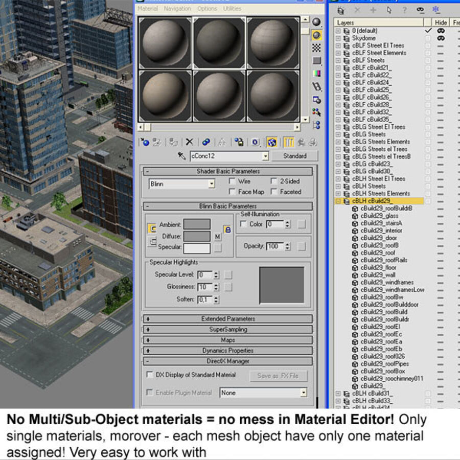 Stad gedetailleerd stadsgezicht 2013 royalty-free 3d model - Preview no. 30
