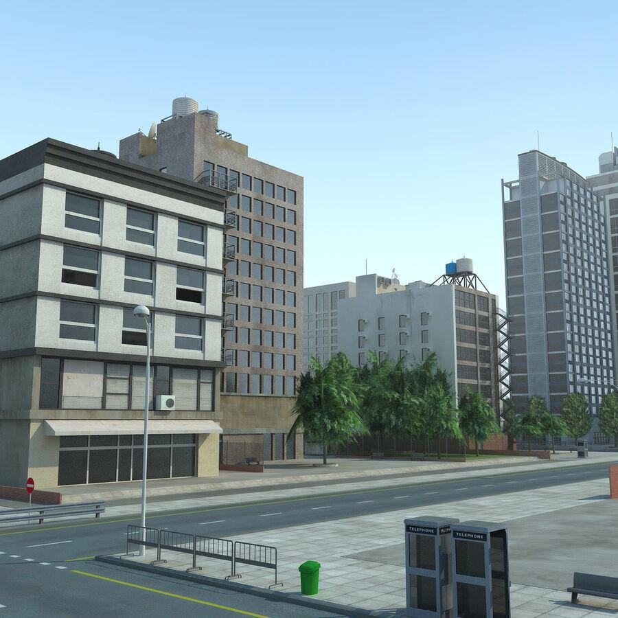 Stad gedetailleerd stadsgezicht 2013 royalty-free 3d model - Preview no. 9