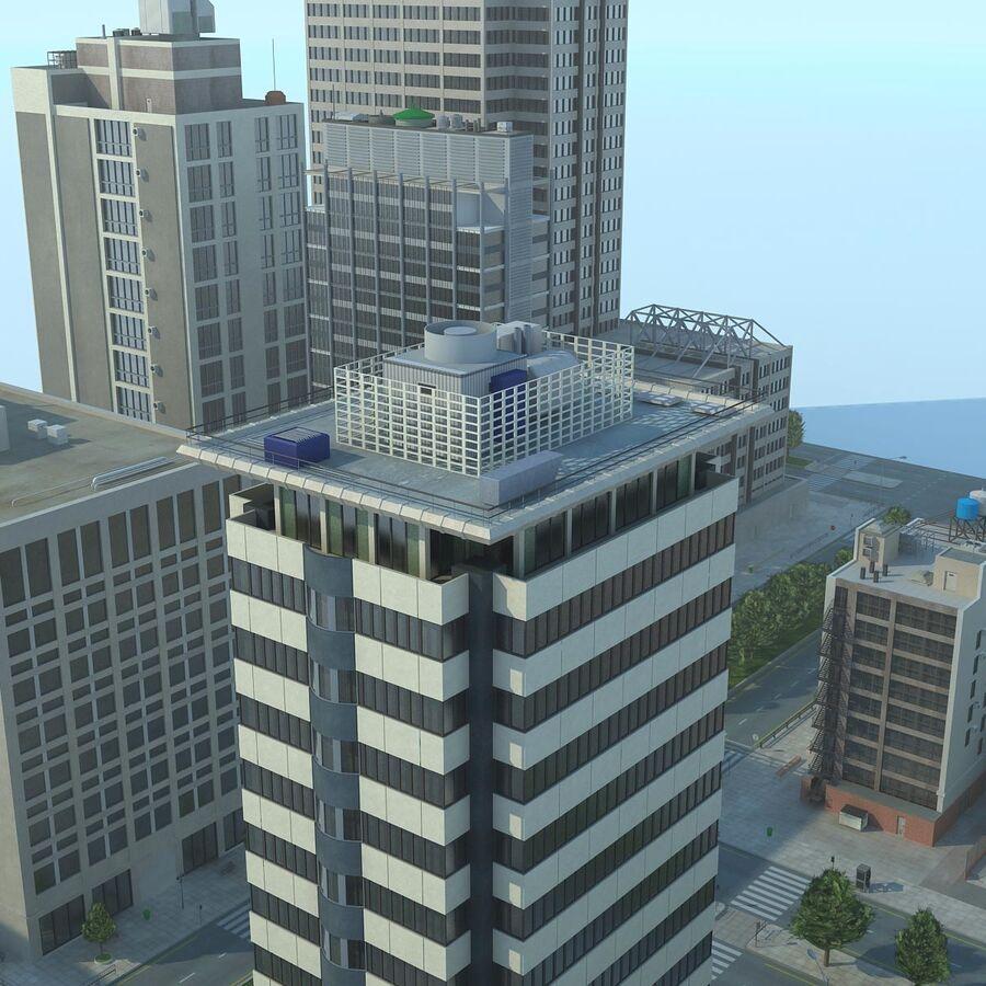 Stad gedetailleerd stadsgezicht 2013 royalty-free 3d model - Preview no. 20