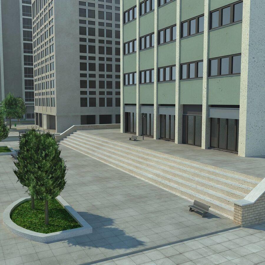 Stad gedetailleerd stadsgezicht 2013 royalty-free 3d model - Preview no. 25