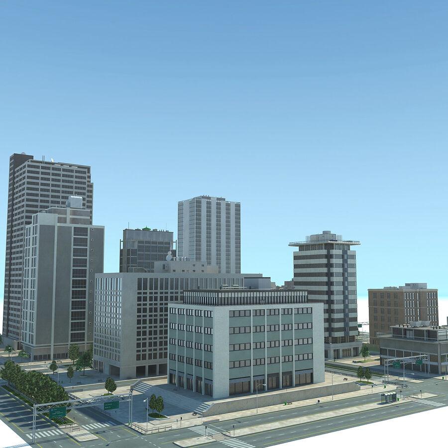 Stad gedetailleerd stadsgezicht 2013 royalty-free 3d model - Preview no. 5