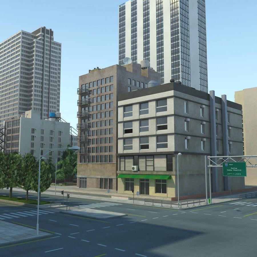 Stad gedetailleerd stadsgezicht 2013 royalty-free 3d model - Preview no. 10