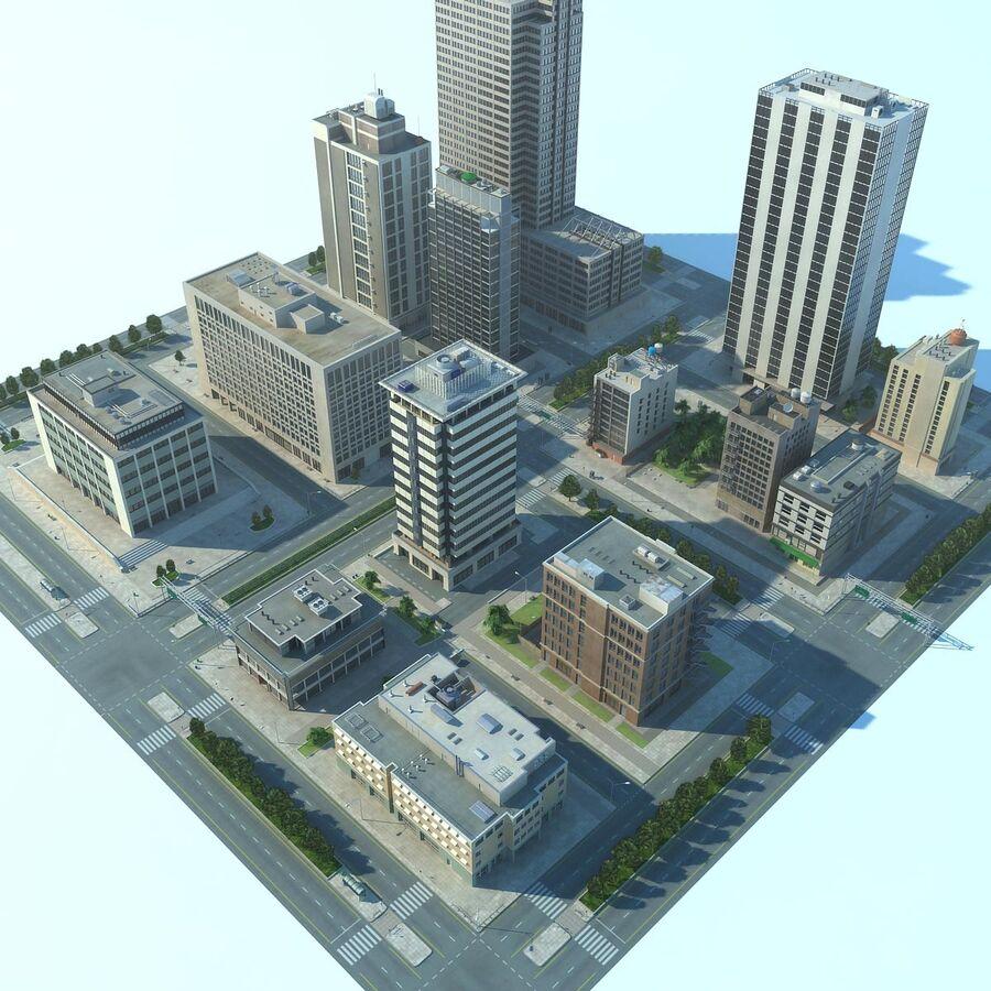 Stad gedetailleerd stadsgezicht 2013 royalty-free 3d model - Preview no. 7