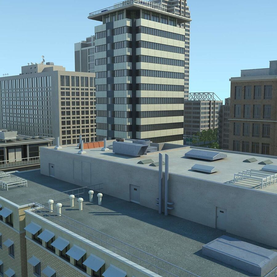 Stad gedetailleerd stadsgezicht 2013 royalty-free 3d model - Preview no. 16