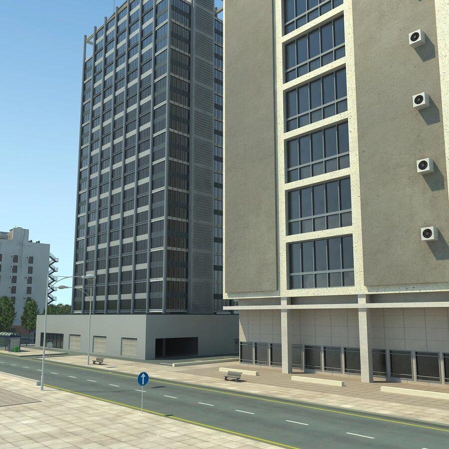 Stad gedetailleerd stadsgezicht 2013 royalty-free 3d model - Preview no. 14
