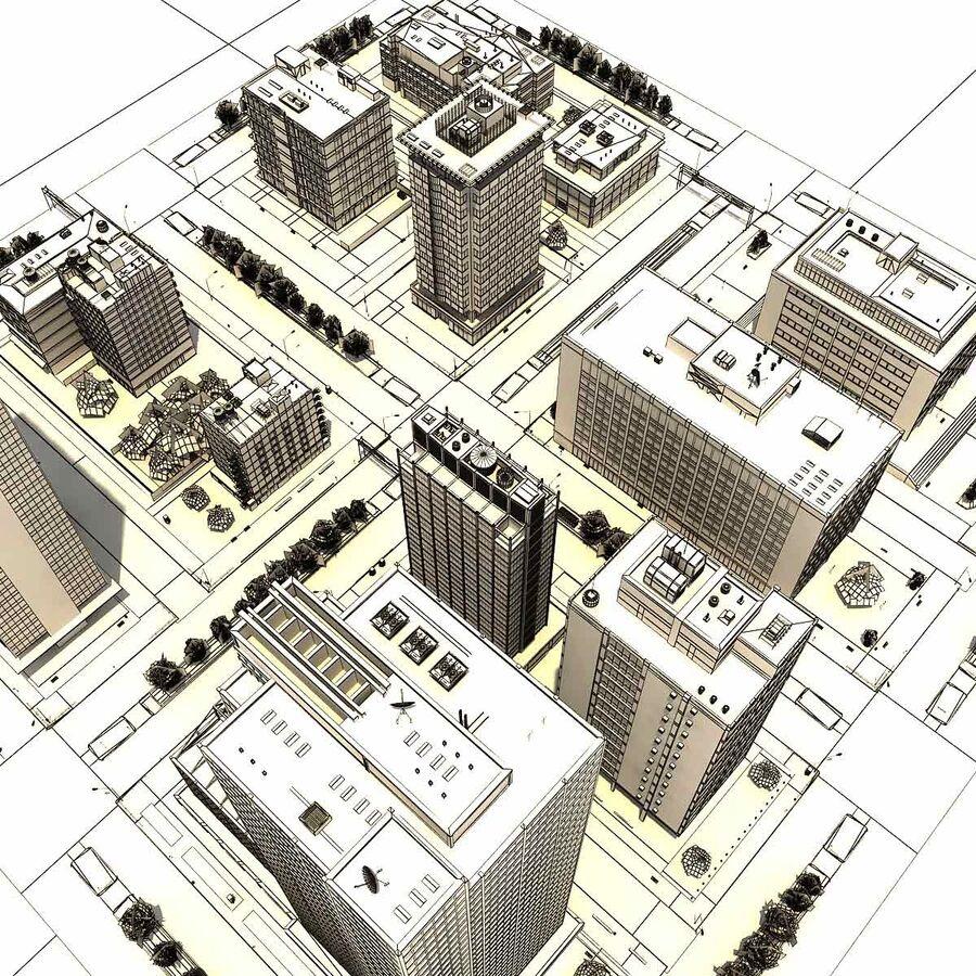 Stad gedetailleerd stadsgezicht 2013 royalty-free 3d model - Preview no. 29