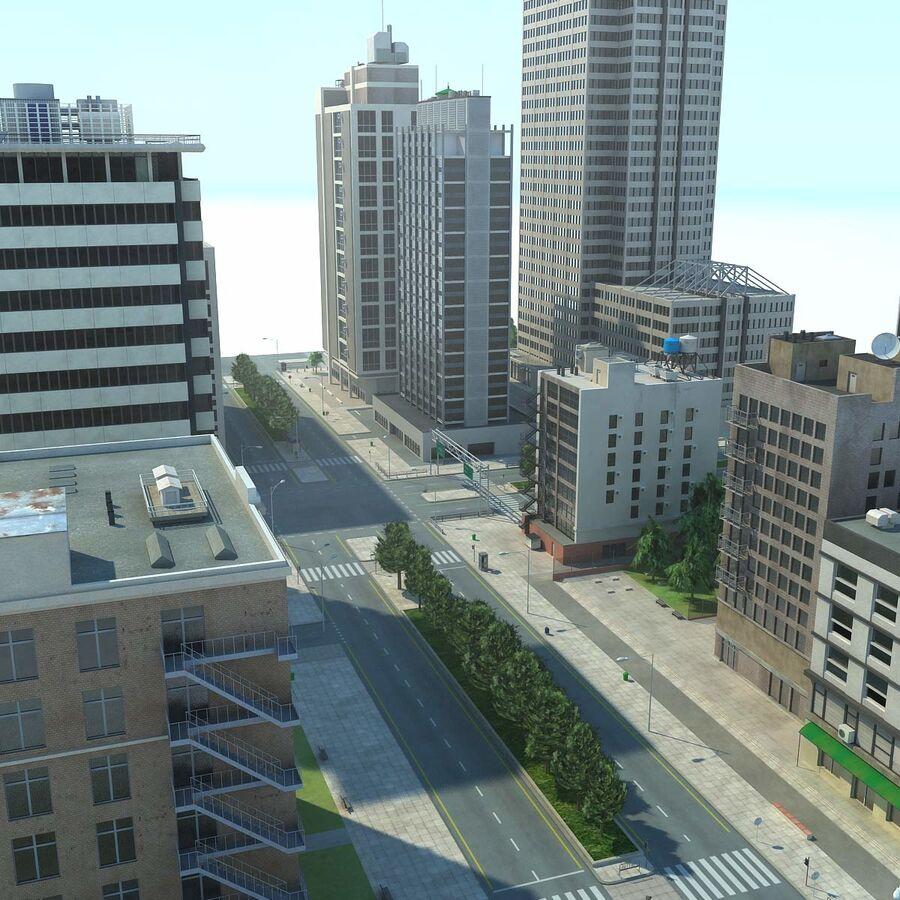 Stad gedetailleerd stadsgezicht 2013 royalty-free 3d model - Preview no. 4