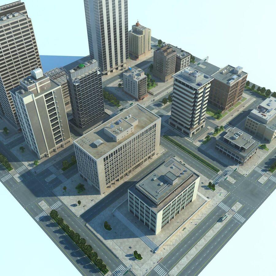 Stad gedetailleerd stadsgezicht 2013 royalty-free 3d model - Preview no. 8