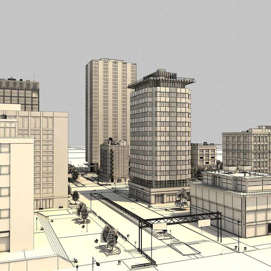 Stad gedetailleerd stadsgezicht 2013 royalty-free 3d model - Preview no. 28
