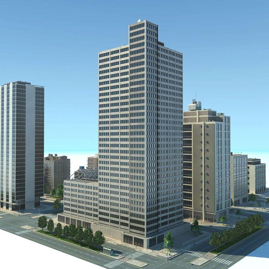 Stad gedetailleerd stadsgezicht 2013 royalty-free 3d model - Preview no. 24