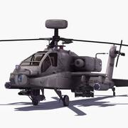 Attack Helicopter Gunship 3d model