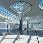 Architecture Pavilion 4 3d model