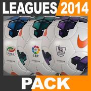 Pack de balles de match des ligues européennes 2013 2014 3d model