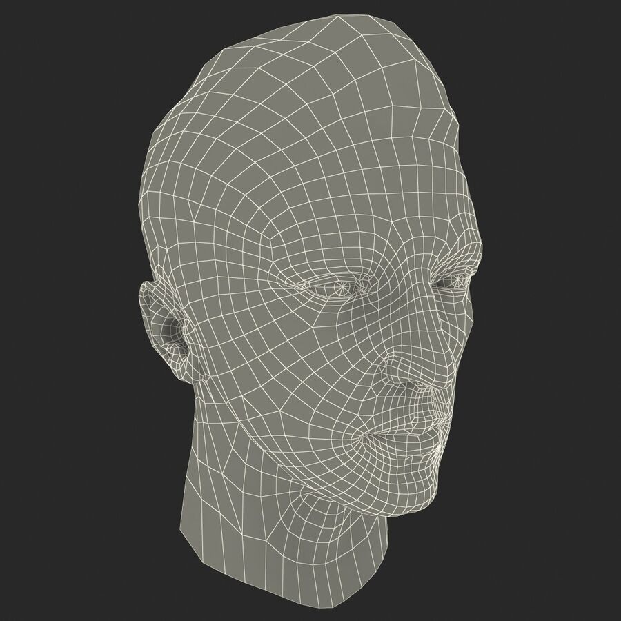 Male Head Collection royalty-free 3d model - Preview no. 88