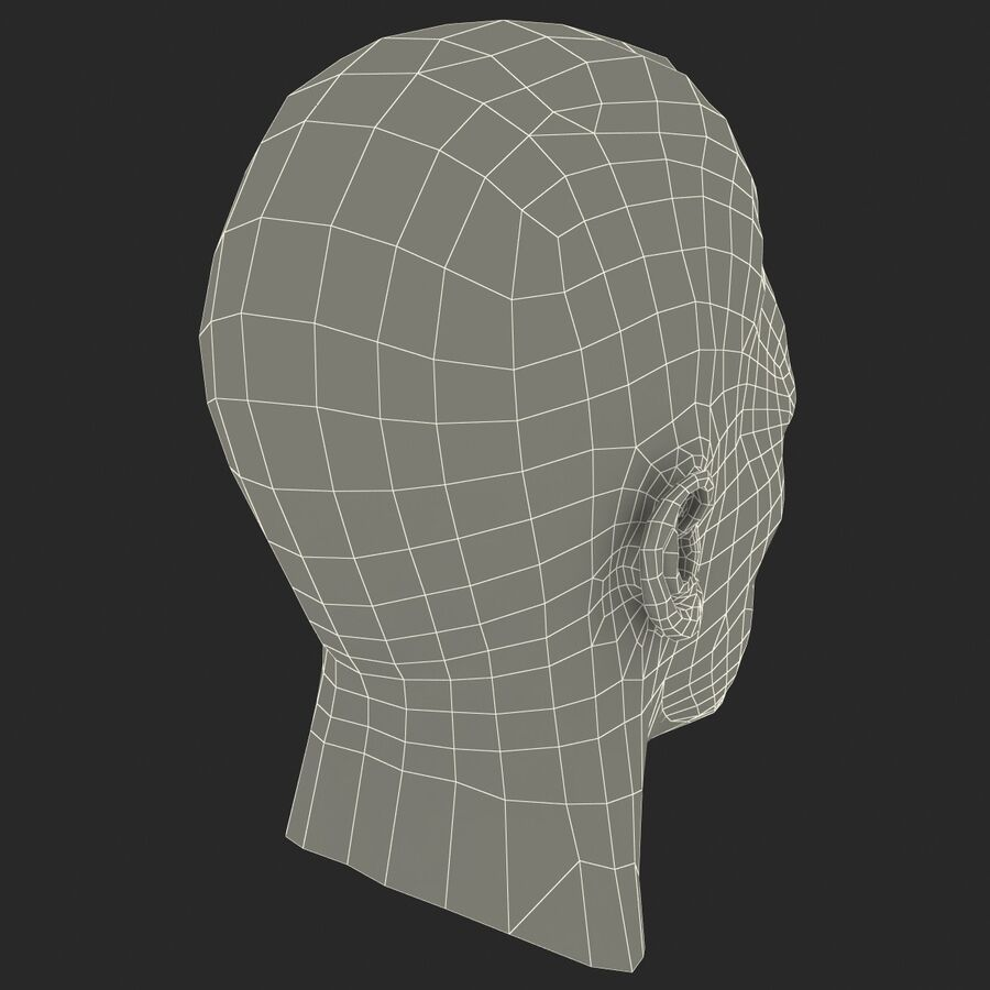 Male Head Collection royalty-free 3d model - Preview no. 90