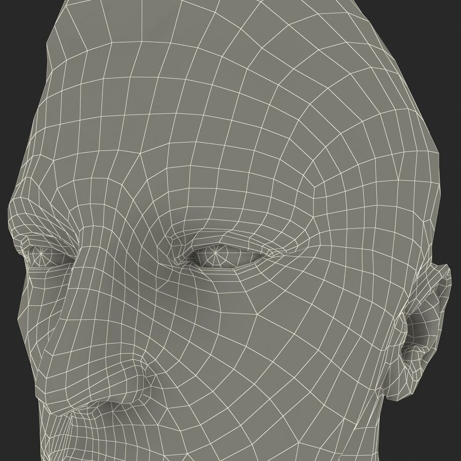 Male Head Collection royalty-free 3d model - Preview no. 94