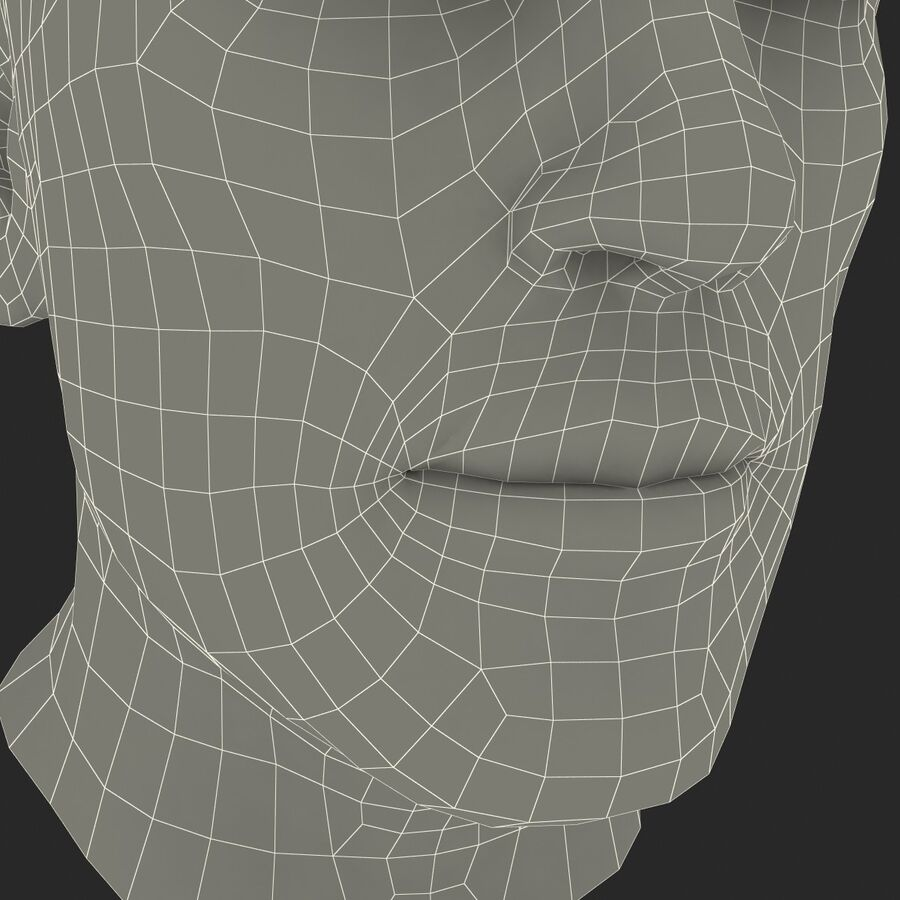 Male Head Collection royalty-free 3d model - Preview no. 25