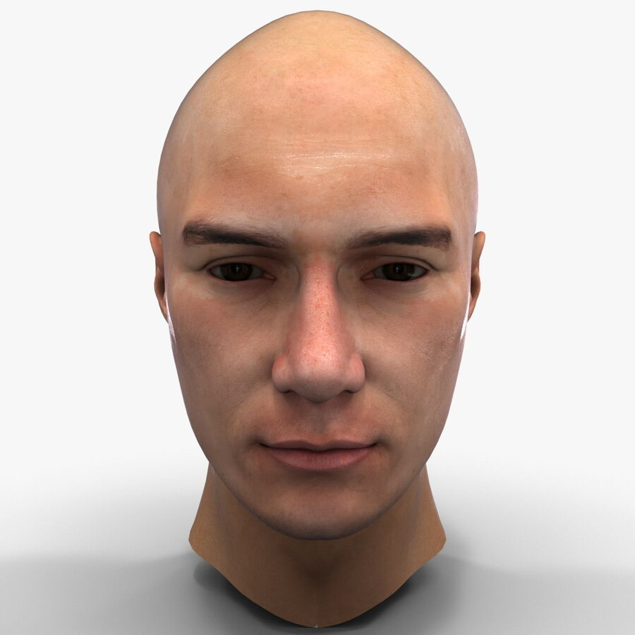 Male Head Collection royalty-free 3d model - Preview no. 57