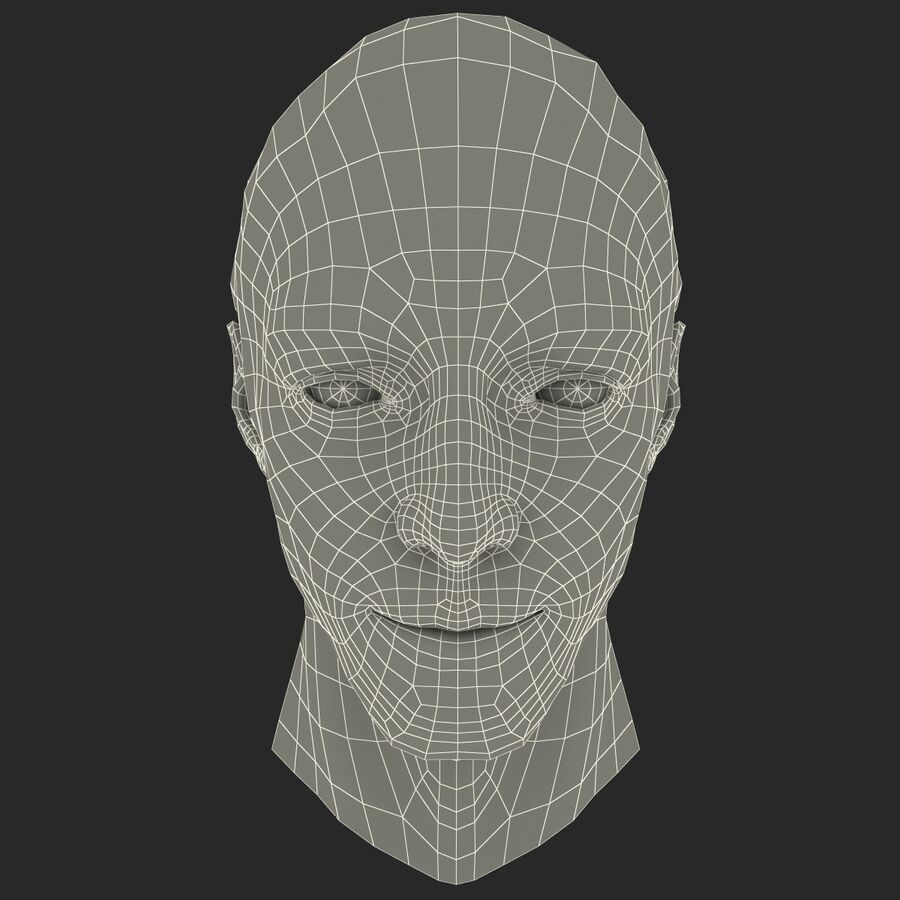 Male Head Collection royalty-free 3d model - Preview no. 45