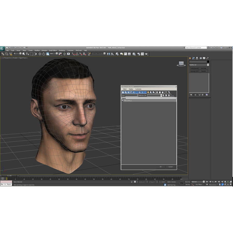 Male Head Collection royalty-free 3d model - Preview no. 34