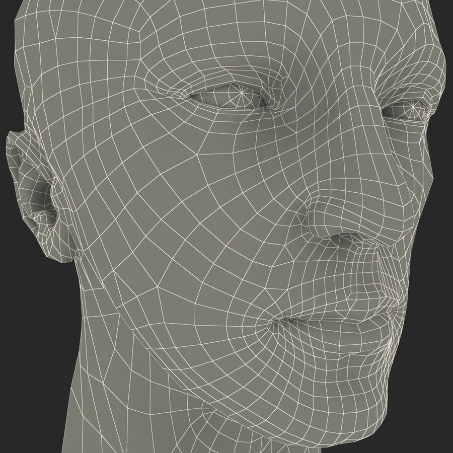 Male Head Collection royalty-free 3d model - Preview no. 95