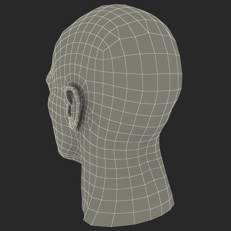 Male Head Collection royalty-free 3d model - Preview no. 70