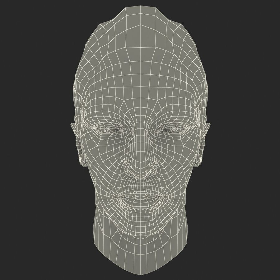 Male Head Collection royalty-free 3d model - Preview no. 87