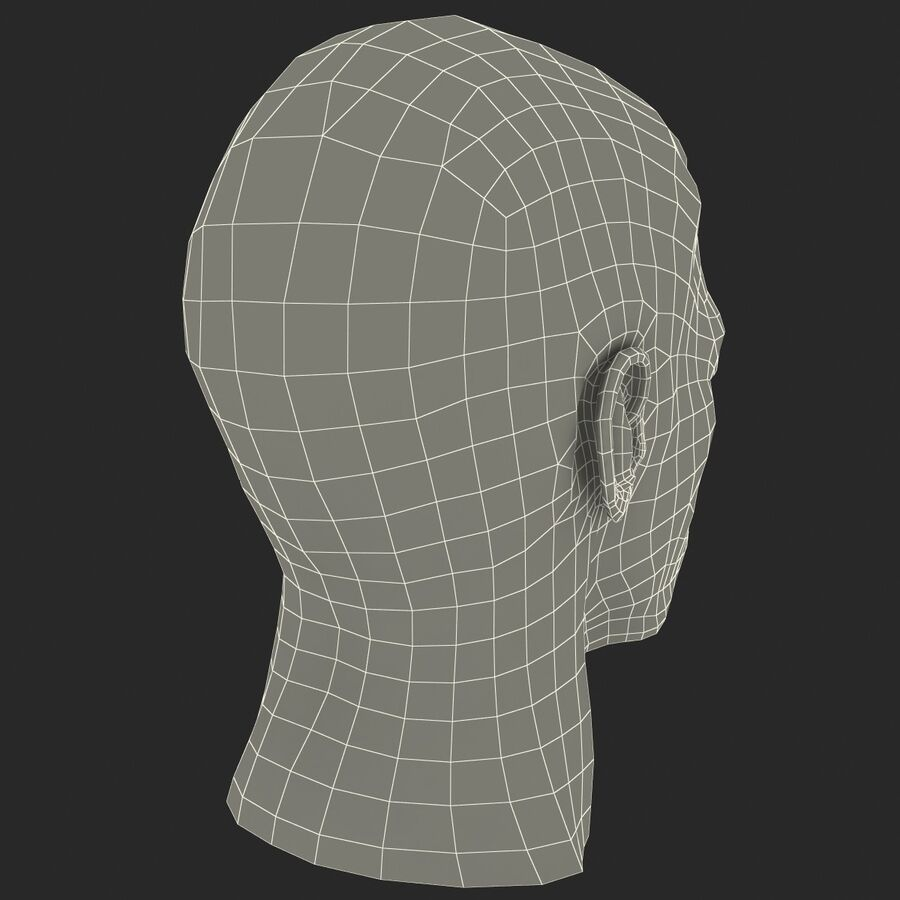 Male Head Collection royalty-free 3d model - Preview no. 48