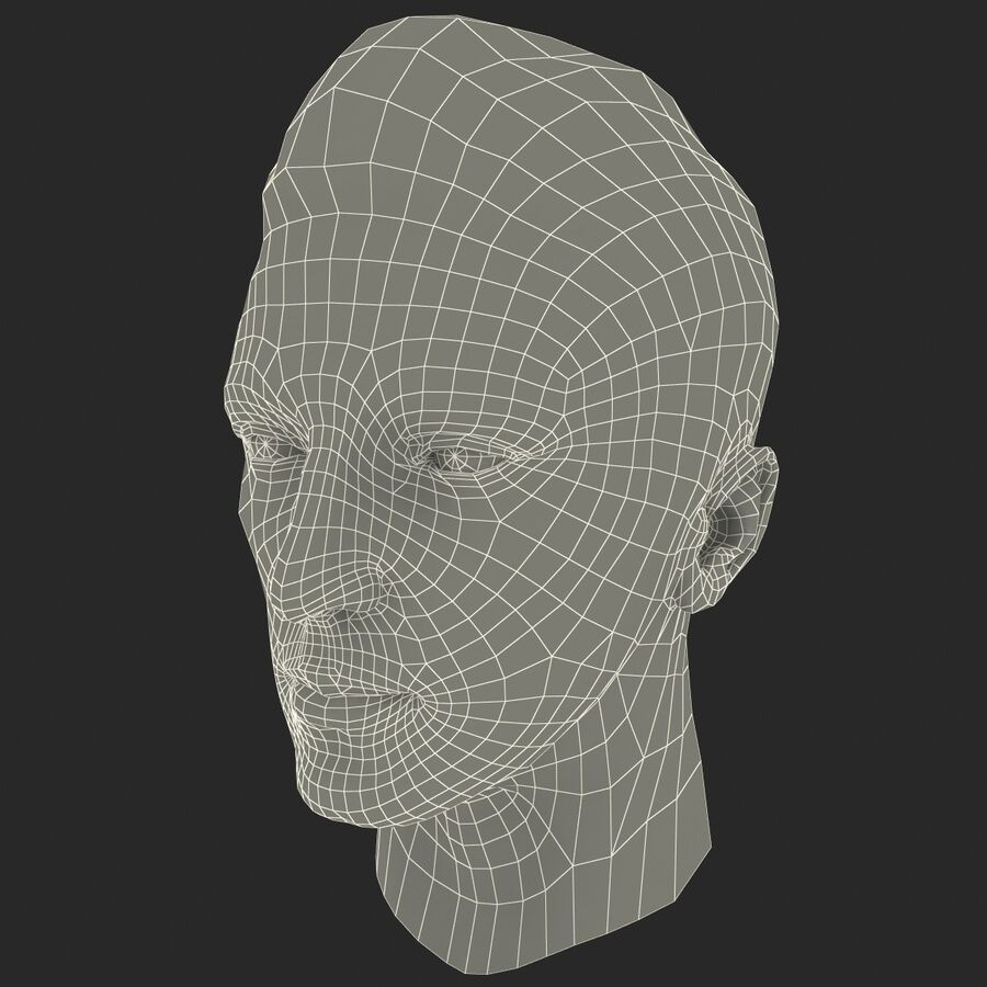 Male Head Collection royalty-free 3d model - Preview no. 93