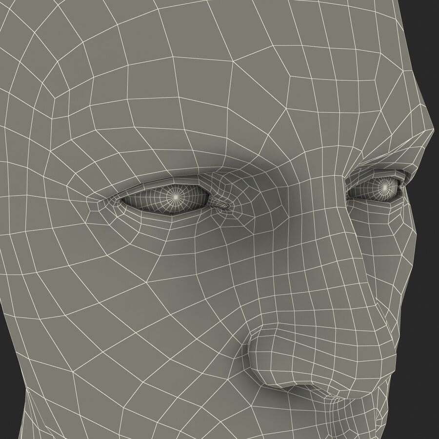 Male Head Collection royalty-free 3d model - Preview no. 72