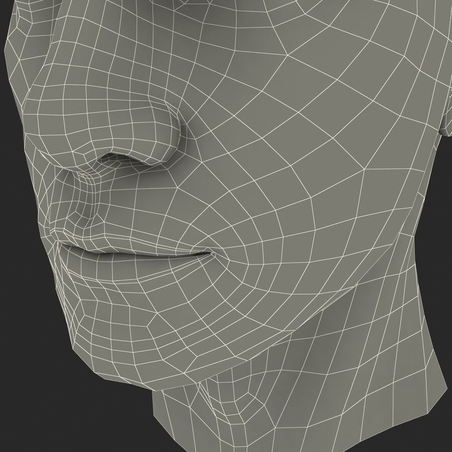 Male Head Collection royalty-free 3d model - Preview no. 73