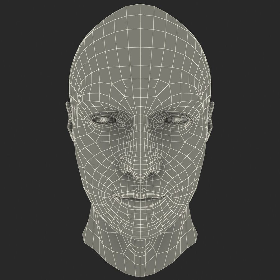 Male Head Collection royalty-free 3d model - Preview no. 66
