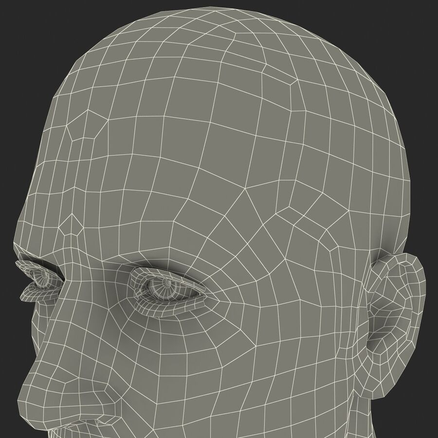 Male Head Collection royalty-free 3d model - Preview no. 24